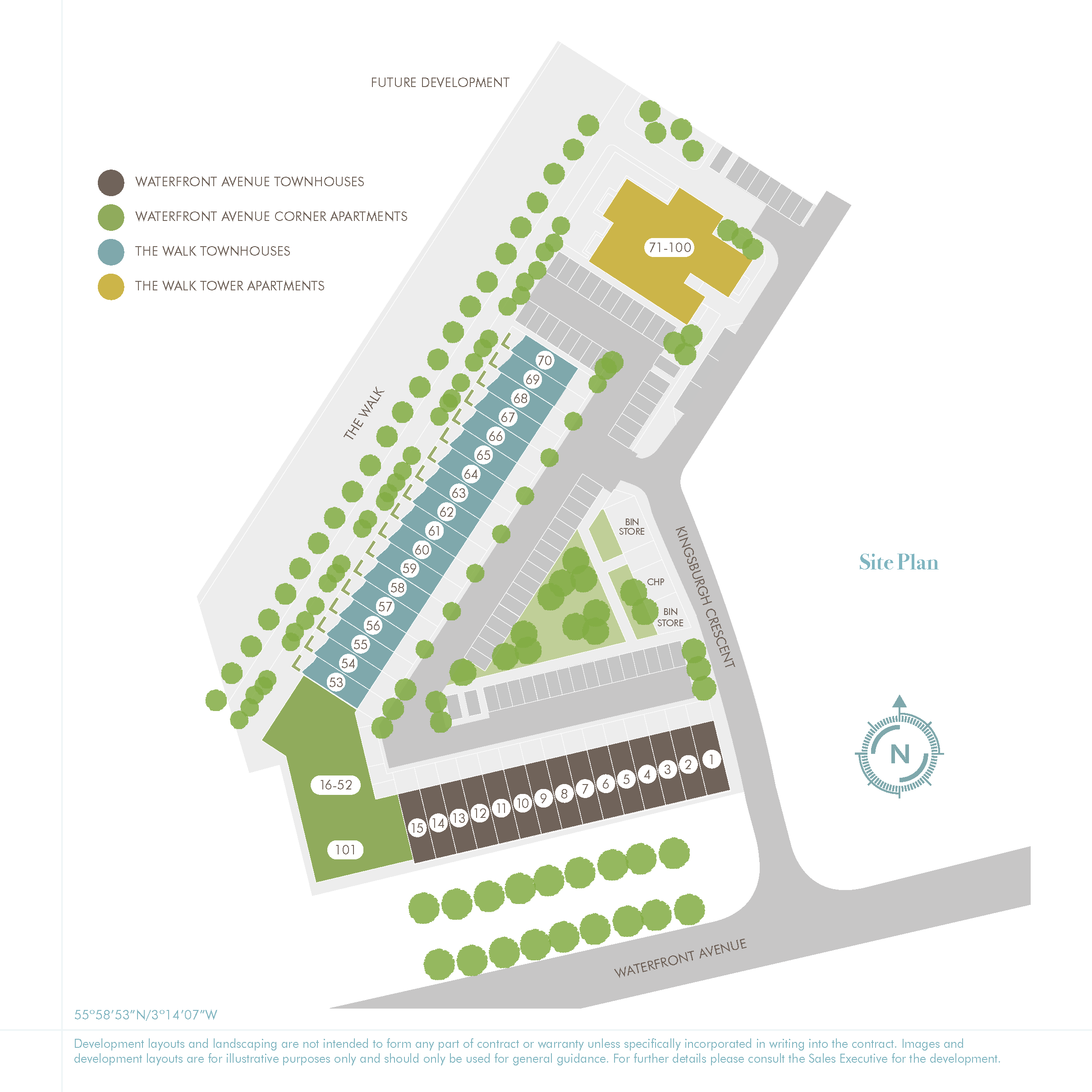 55 Degrees North site plan
