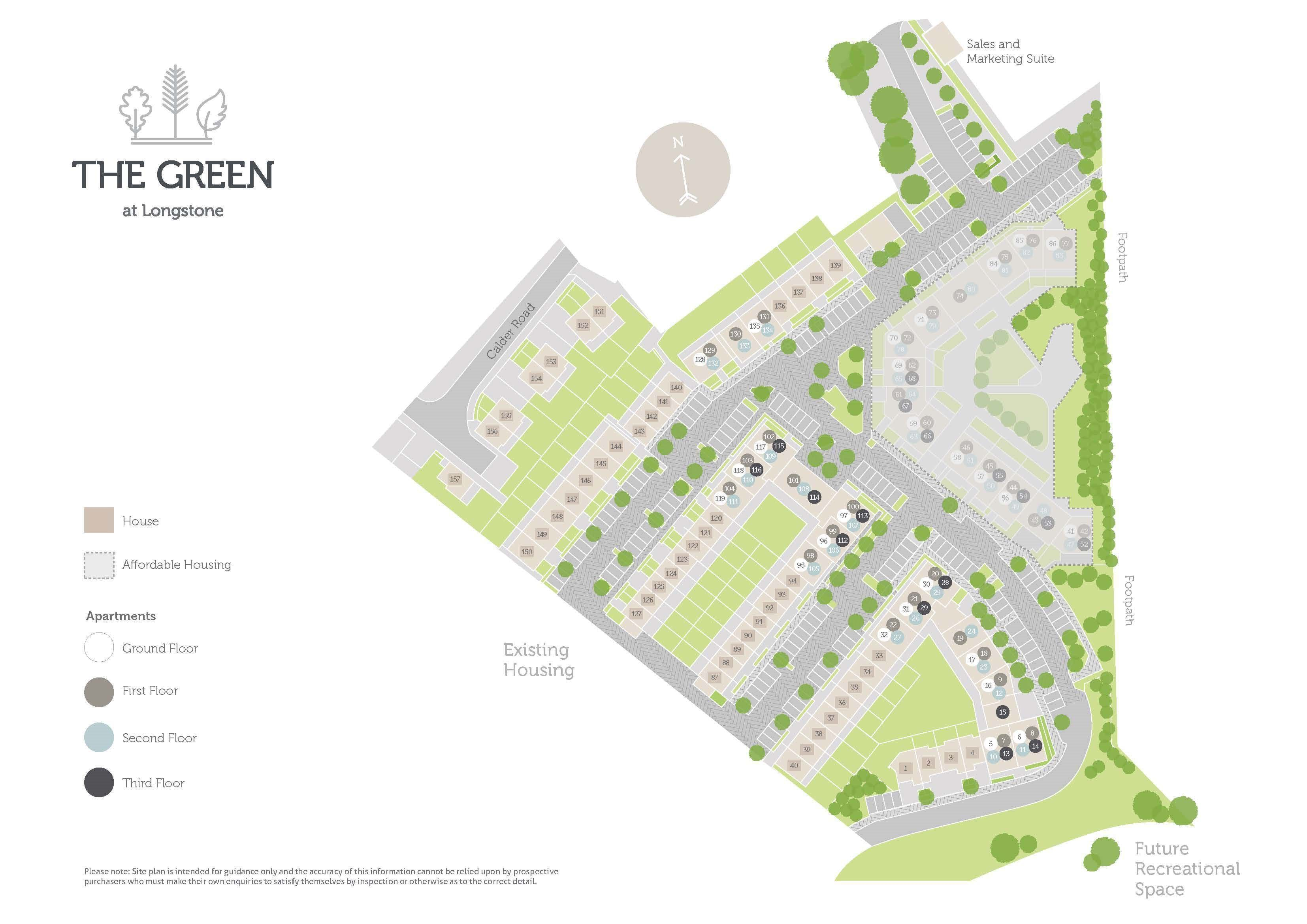 The Green site plan